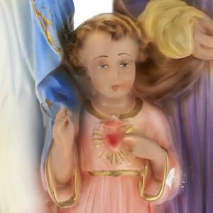 Statua Sacra Famiglia 40 cm gesso s4