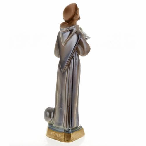 Statua San Francesco d'Assisi gesso 20 cm s4