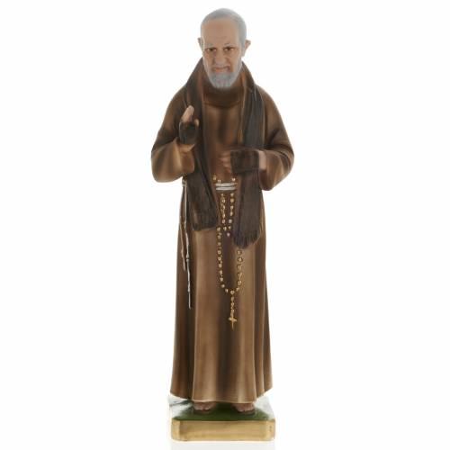 Statua San Padre Pio da Pietrelcina 40 cm gesso s1