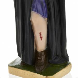 Statua San Pellegrino Laziosi 30 cm gesso s3