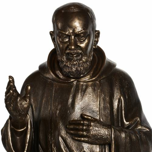 Statua San Pio vetroresina patinata bronzo 175 cm s2