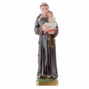 Statua Sant'Antonio da Padova 30 cm gesso madreperlato s1