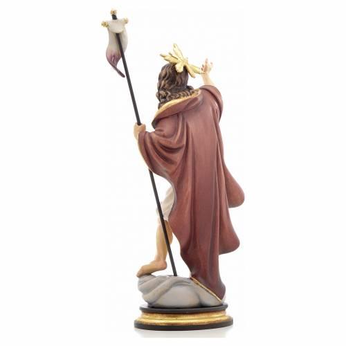 Statue bois Résurrection peinte s3
