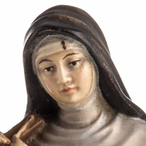 Statue bois Sainte Rita de Cascia peinte s7