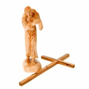 Statuen aus Naturholz: Statue Christ Kreuz Holz