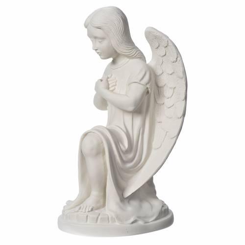 Statue extérieur Ange gauche marbre s3