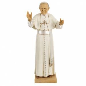 Statuen aus Harz und PVC: Statue Johannes Paul II 50cm, Fontanini
