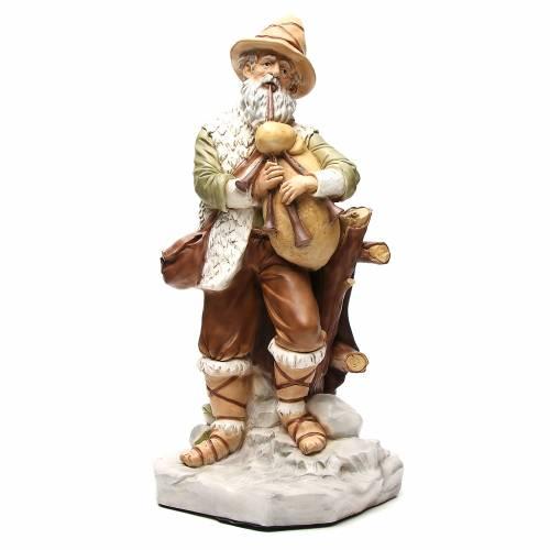 Statue joueur de cornemuse pour crèche 65 cm s1