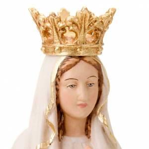 Statuen aus gemalten Holz: Statue Madonna Lourdes