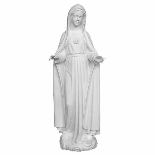 Statue Notre-Dame de Fatima 120 cm fibre de verre blanche s1