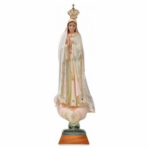 Statue Notre Dame de Fatima avec colombe peinte 45 cm s1