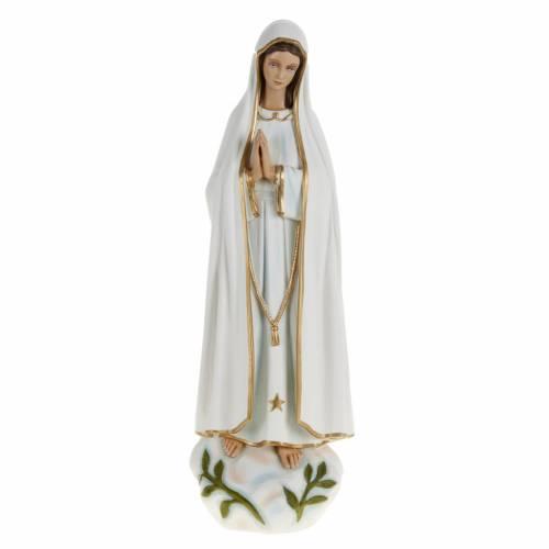 Statue Notre-Dame de Fatima marbre 60cm peinte s1