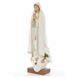 Statue Notre Dame de Fatima marbre reconstitué 60cm peinte s2