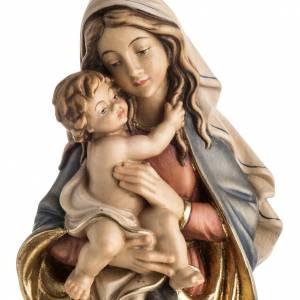 Statue Notre Dame de la paix peinte bois Val Gardena s2