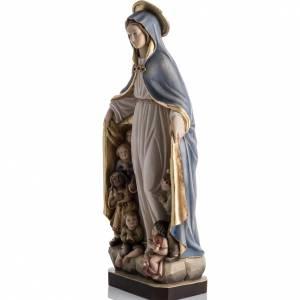 Statue Notre Dame de la Protection peinte bois Val Gardena s7