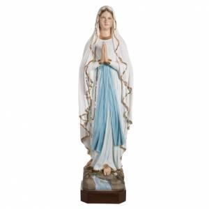 Statues en marbre reconstitué: Statue Notre-Dame de Lourdes marbre 130cm peinte