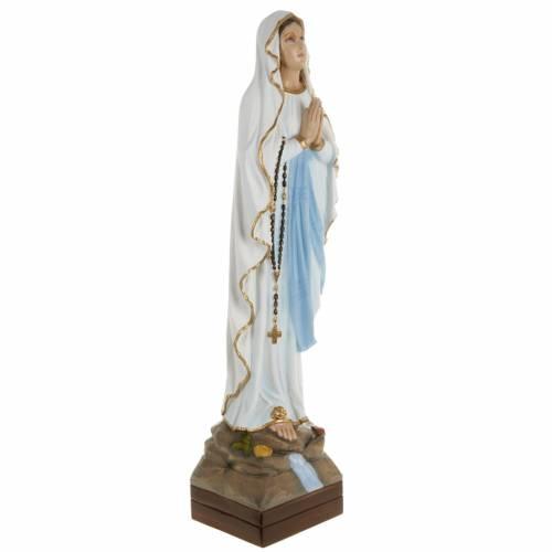 Statue Notre-Dame de Lourdes marbre 70cm peinte s5