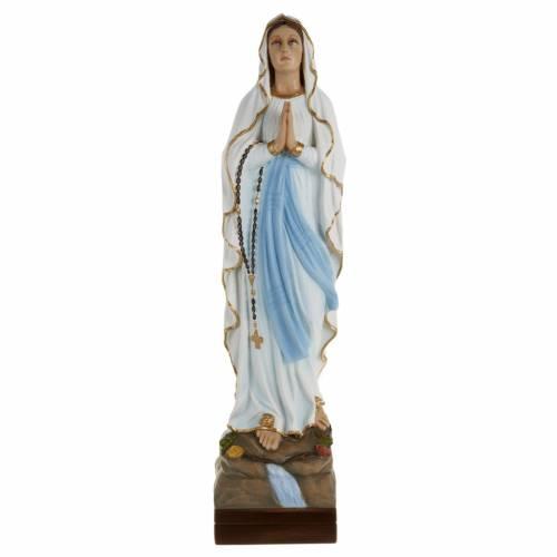 Statue Notre-Dame de Lourdes marbre 70cm peinte s1