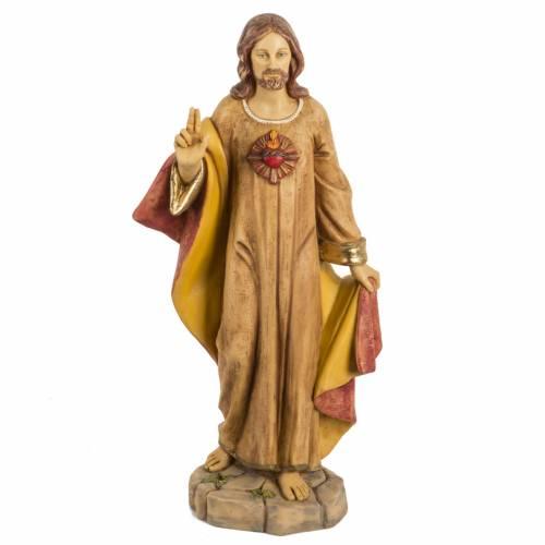 Statue Sacré coeur 50 cm résine Fontanini s1