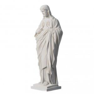 Statue Sacré coeur marbre reconstitué 50 cm s3