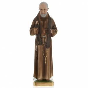 Statue Saint Père Pio de Pietralcina plâtre 40 cm s1