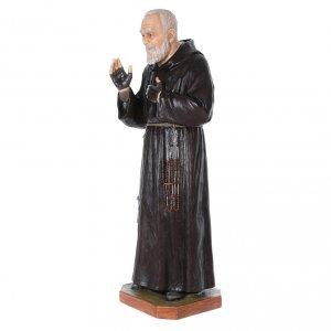 Statue Saint Pio de Pietrelcina fibre de verre 175cm Landi s2