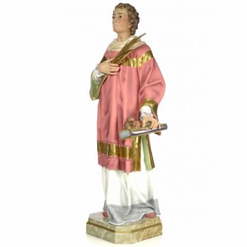 Statue Saint Étienne martyr 150 cm pâte à bois finition élégante s2