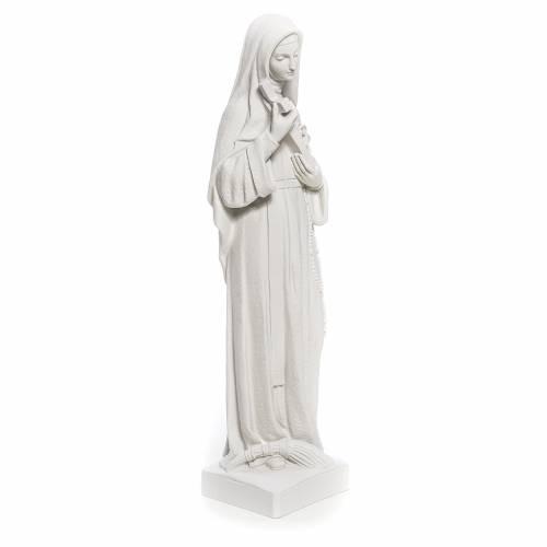 Statue Sainte Rita poudre de marbre blanc 62 cm s4