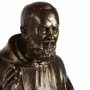 Statue San Pio fibre de verre patinée bronze 175 cm s3