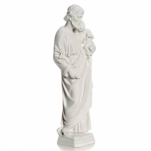 Statue St Joseph marbre pour extérieur s2