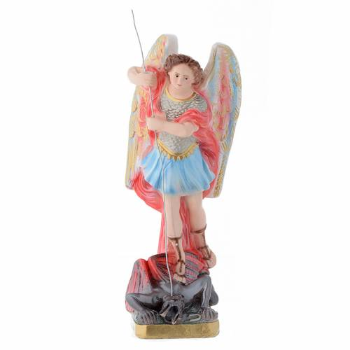 Statue St Michel plâtre 30 cm s1