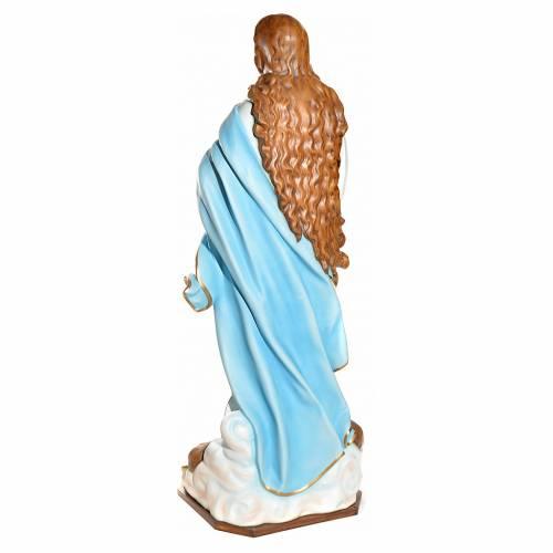 Statue Vierge de l'Assomption marie fibre de verre 180cm s4