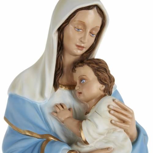Statue Vierge et enfant 80 cm fibre de verre s2