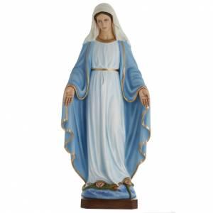 Statue Vierge Immaculée marbre 100cm peinte s1