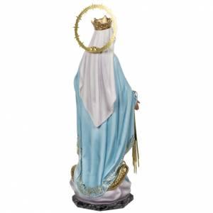 Statue Vierge Miraculeuse 60 cm pâte à bois s9