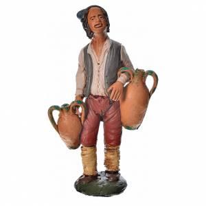 Presepe Terracotta Deruta: Uomo con anfore terracotta presepe 18 cm