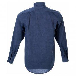 Camisas Clergyman: STOCK Camisa clergy manga larga filafil azul