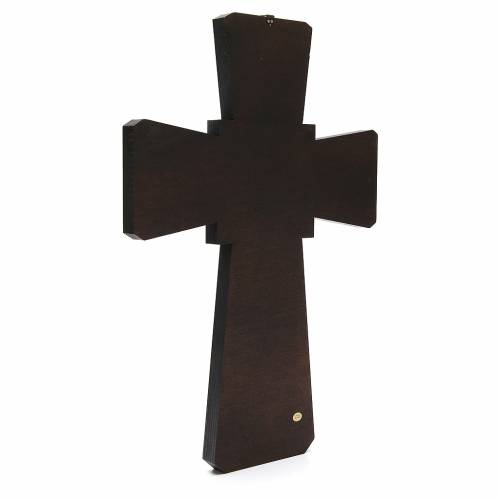 STOCK Cross God the Father in wood 70x50cm s3