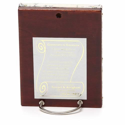 STOCK Icône Vierge Korsun plaque argent 925 12x9,5 cm s2