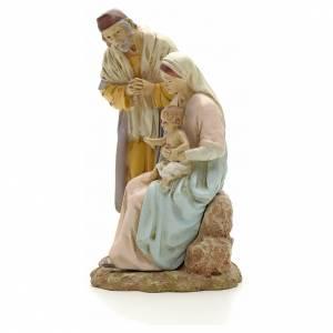 STOCK Nativité sur base résine peinte 16 cm s2