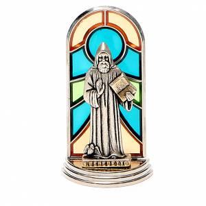 Saint Benedict crosses: STOCK Saint Benedict metal 5,5cm, glass base