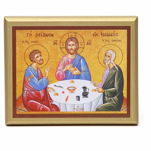 STOCK Small painting Supper at Emmaus 14x11cm s1
