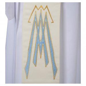 Stola da diacono 100% poliestere simbolo mariano s3