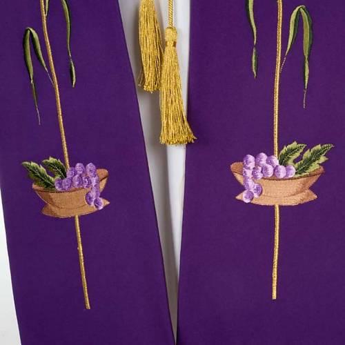 Stola liturgica IHS spiga ostia uva s5