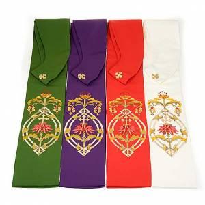 Priesterstolen: Stola mit IHS Symbol 4 Farben.