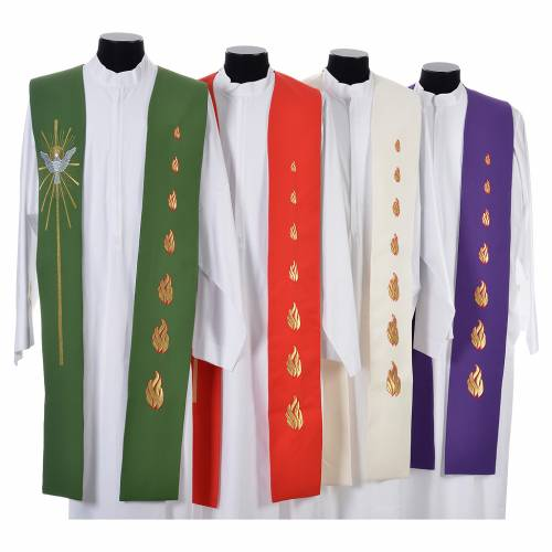 Stole, 80% polyester 20% wool with Holy Spirit decoration s1