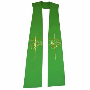 Stole in 100% polyester with IHS and cross s1
