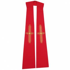 Stole in 100% polyester with stylised crosses s1