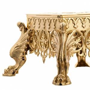 Bases pour ostensoir, trônes: Support pour ostensoir laiton fondu doré