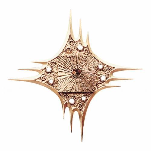 Tabernacle à suspendre laiton doré fleurs 80x80 cm s1
